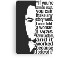 saul goodman breaking bad Kevin Costner Canvas Print