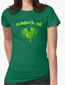 Shamrock On Womens Fitted T-Shirt