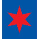 Chicago ✶ Star iPad Case (Blue) by Chicago Tee