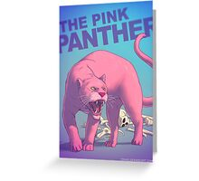 The pink panther BADASS Greeting Card
