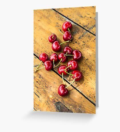 Fresh Cherry Greeting Card
