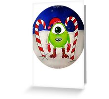 Mini Mike Wazowski Elf Greeting Card