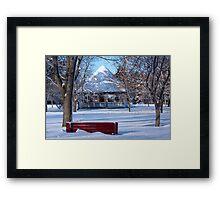 Freezing Framed Print