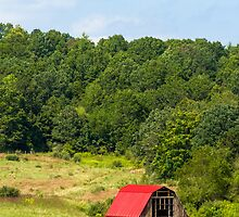 Red Roof Barn by Kenneth Keifer