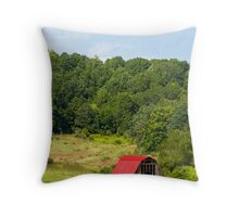 Red Roof Barn Throw Pillow