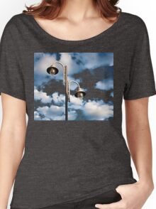Urban landscape with lamppost  Women's Relaxed Fit T-Shirt