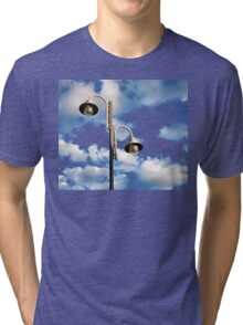 Urban landscape with lamppost  Tri-blend T-Shirt