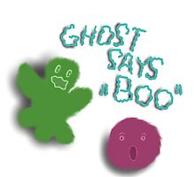Ghost says boo by ywanka