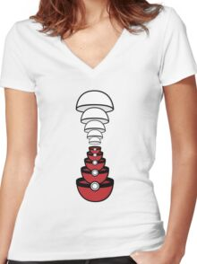 Shirt #66 / 100 - PokeIllusion Women's Fitted V-Neck T-Shirt