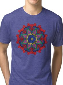 Abstract flower vector figure Tri-blend T-Shirt