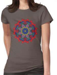 Abstract flower vector figure Womens Fitted T-Shirt