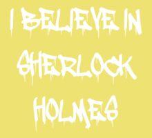 Sherlock - I Believe in Sherlock Homes Kids Tee