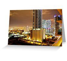 Miami at Night Greeting Card
