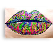 Psychedelic Lipstick Canvas Print