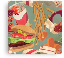 RIP lunch Canvas Print