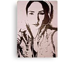 Stippling Portrait Canvas Print