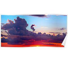 Vibrant Cloudscape  Poster