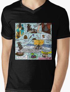 Fus-Kan-Doo Mens V-Neck T-Shirt