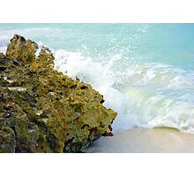 Wave and Rock Photographic Print