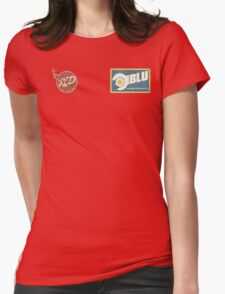 RED and BLU Womens Fitted T-Shirt