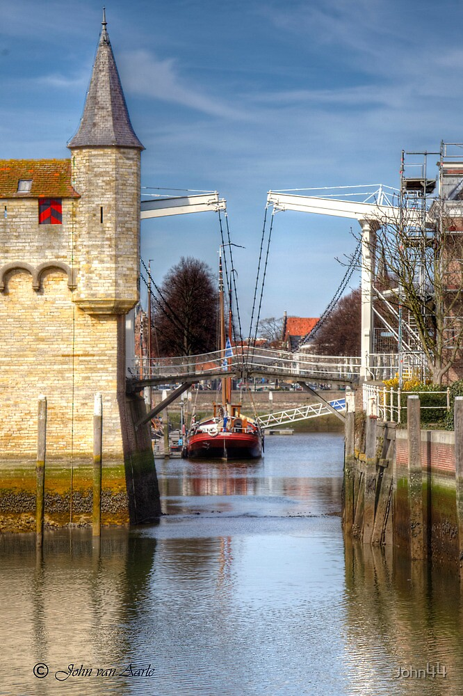 A little harbor in Holland by John44