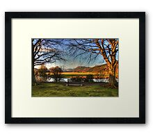 Sit here and enjoy the view Framed Print
