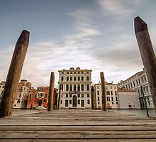 Venice Docks with Canals of Venice Italy by saaton