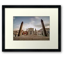 Venice Docks with Canals of Venice Italy Framed Print