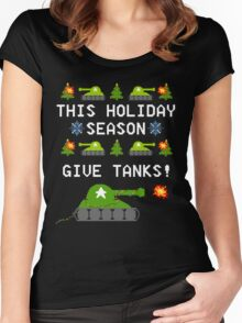 This Holiday Season, Give Tanks! Women's Fitted Scoop T-Shirt