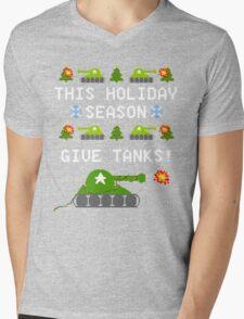 This Holiday Season, Give Tanks! Mens V-Neck T-Shirt