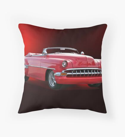 1954 Chevrolet Custom Convertible Throw Pillow