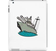 World War Two Battleship Cartoon iPad Case/Skin