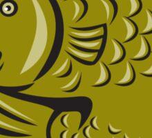 Trout Fish Jumping Circle Cartoon  Sticker