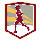 Marathon Runner Shield Retro by patrimonio