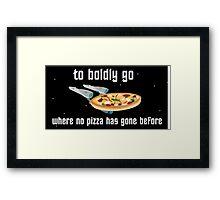 USS Pizzaprise Framed Print