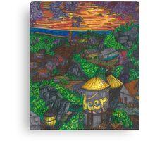 Pirate Cove (panel 6) Canvas Print