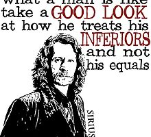 Sirius Black Harry Potter Typography by geekchicprints