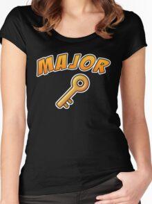 Major Key - DJ Khaled  Women's Fitted Scoop T-Shirt