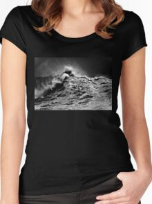 Winter Waves At Pipeline 13 Women's Fitted Scoop T-Shirt