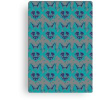 Foxes Faces Canvas Print