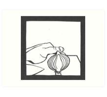 Cutting an Onion Art Print