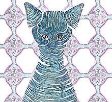 Cat in a bottle by SophieRoseanne