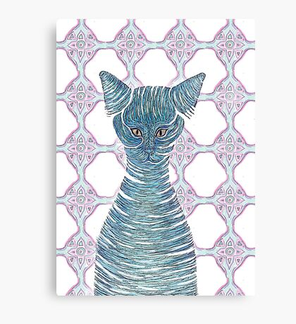Cat in a bottle Canvas Print