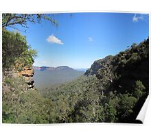 View of the Jamison Valley, Australia Poster