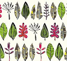 leaves and feathers by Sharon Turner