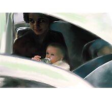 Mary David mother feeding baby  Photographic Print