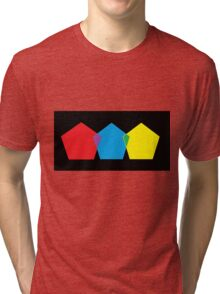 FAB Primary Hexagons Tri-blend T-Shirt