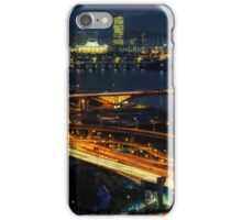 Night traffic over seoul iPhone Case/Skin