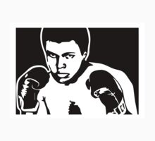 Muhammad Ali with gloves Cassius Clay by 53V3NH