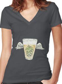 Hops Women's Fitted V-Neck T-Shirt